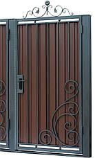 Кованые ворота и калитка  В-07, фото 2