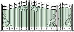 Кованые ворота и калитка  ВД-07
