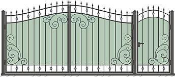 Кованые ворота и калитка  ВД-07, фото 2