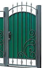 Кованые ворота и калитка  ВД-07, фото 3