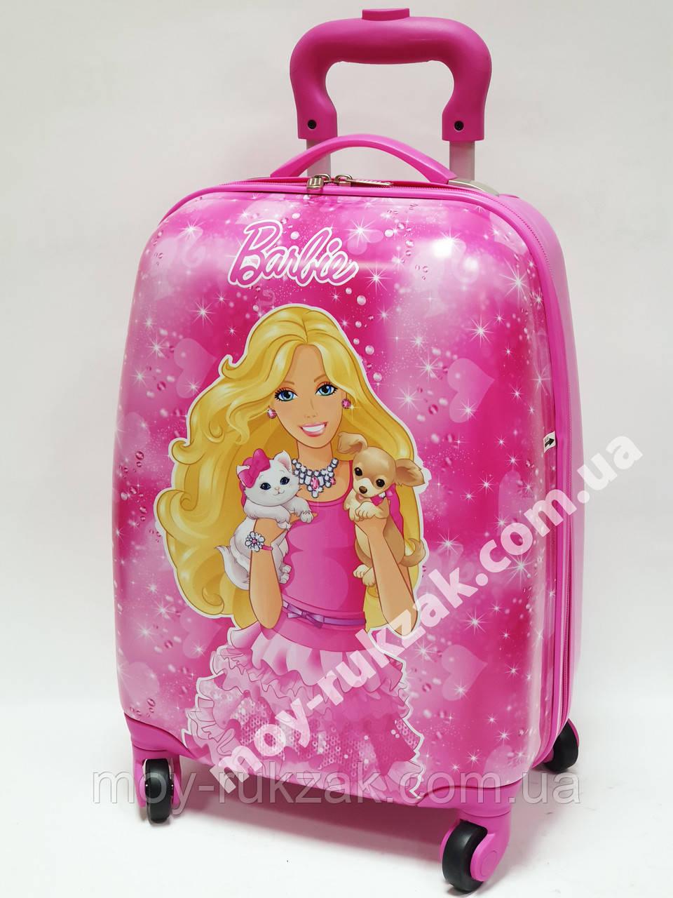 """Детский чемодан дорожный на колесах 16"""" «Барби» Вarbie 4, 520412"""