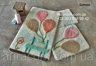 Коврики в ванную, набор  из трех ковриков с воздушными шариками