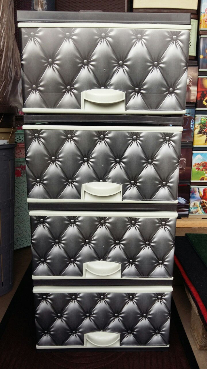 Комод пластиковый диван серый элиф 4 секции