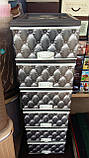 Комод пластиковый элиф серый диван на 6 ящиков, фото 3