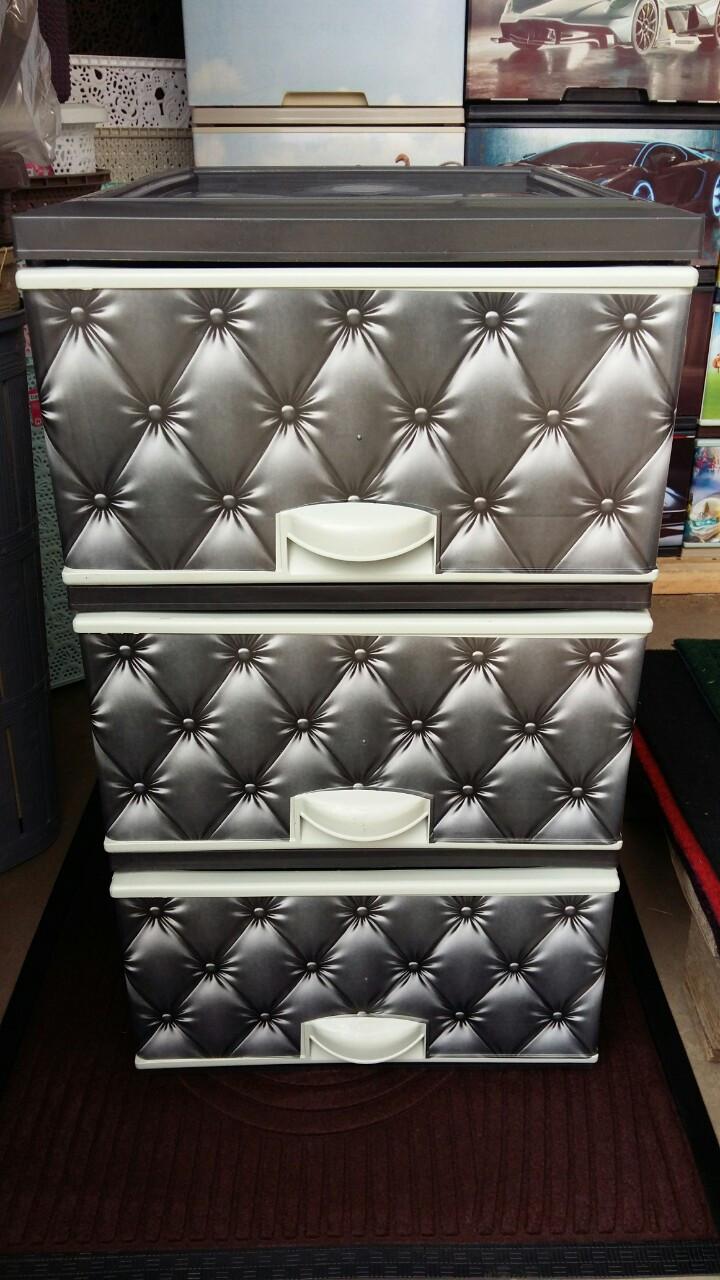 Комод пластиковый элиф серый диван на 3 ящика