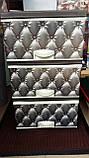 Комод пластиковый элиф серый диван на 3 ящика, фото 2