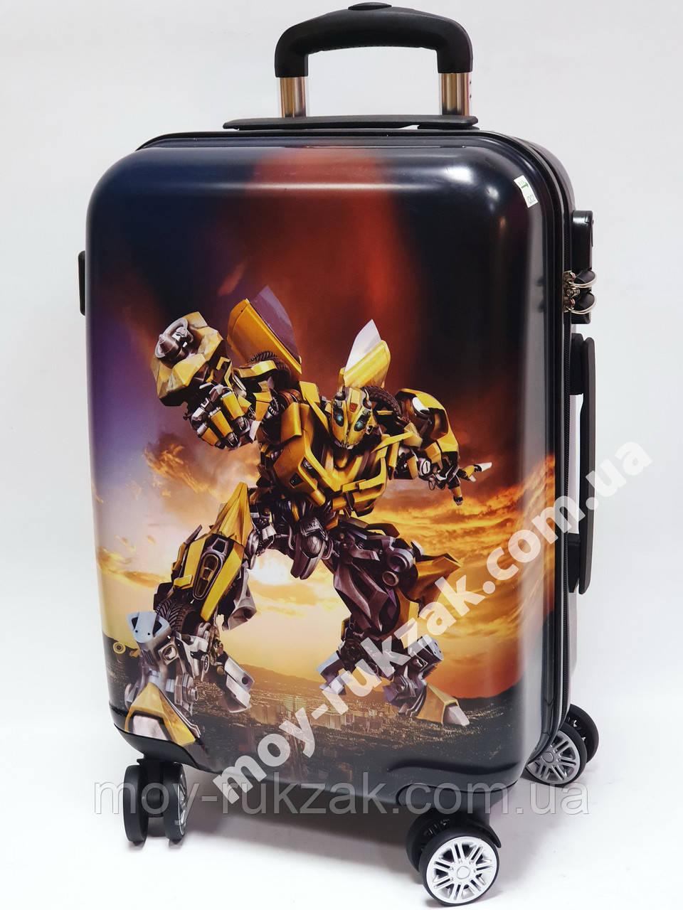 """Детский чемодан дорожный 20"""" «Josef Otten» Трансформер - 7, фотопечать двусторонняя 520432"""