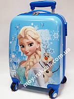 """Детский чемодан дорожный на колесах 18"""" «Эльза и снеговик Олаф» Frozen-16, кодовый замок, 520437"""