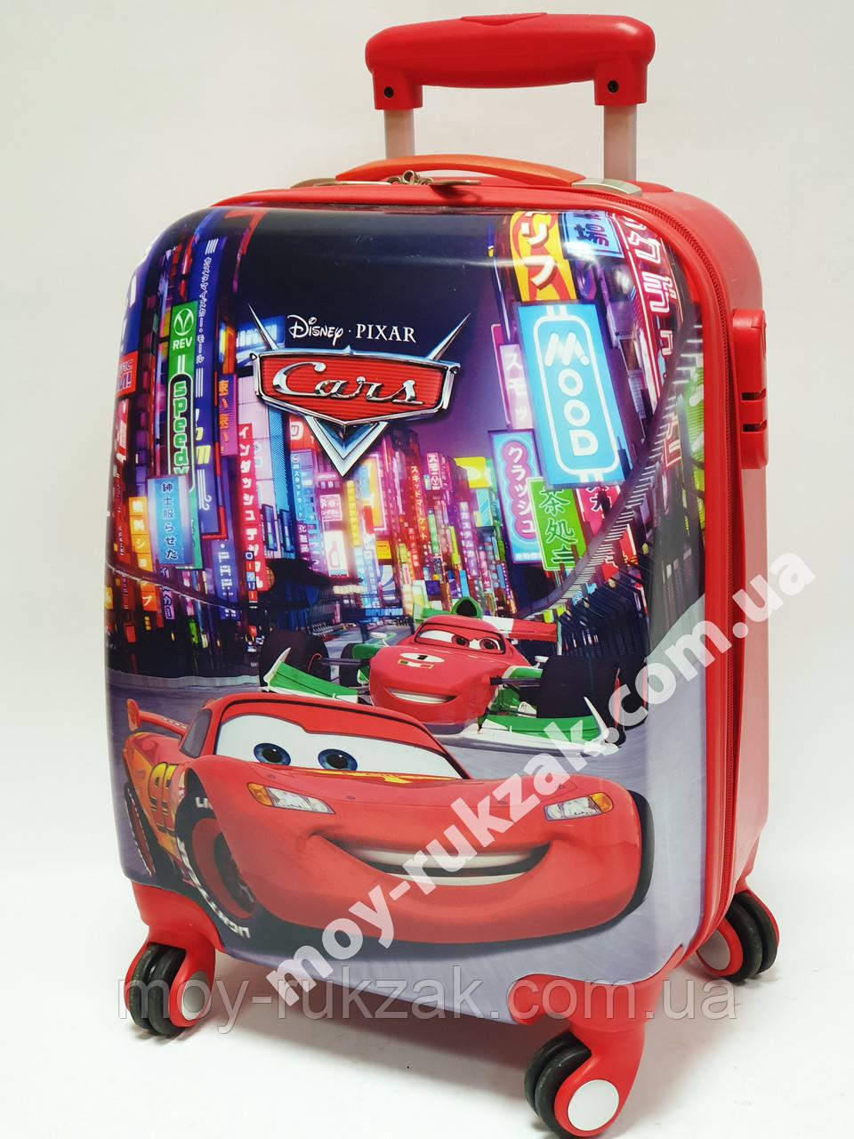 """Детский чемодан дорожный на колесах 18"""" «Тачки» Cars-15, кодовый замок, 520441"""