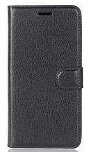Кожаный чехол-книжка для Nokia 6 Черный
