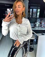 Рубашка Doratti женская стильная классика с оборками на воротнике и манжетах Rdor204, фото 1