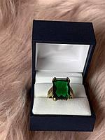 Серебряное кольцо 925 пробы с зеленым камнем Алпанит