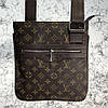 Messenger Louis Vuitton District Pochette Monogram Macassar
