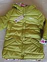 Двухсторонняя демисезонная куртка на девочку Анастасия. Размеры 104- 134, фото 6