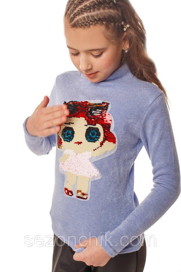 Гольф на девочек стильный с куклой Лол