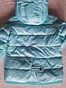 Модная осенняя курточка на девочку Юля с отстежным довязом на рукаве Размеры 122-152, фото 6