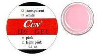 CCN Нежно-розовый конструирующий гель для моделирования ногтей, 15 мл.