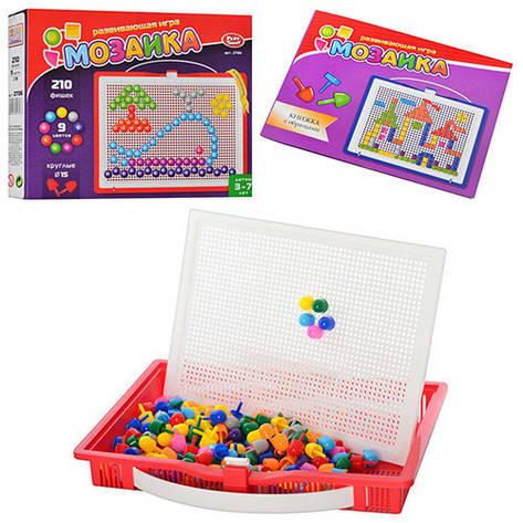 Мозаика детская 210 фишек Joy Toy Play Smart 2706, фото 2