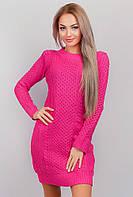 Платье женское вязаное выше колена AG-0002806 Малиновый