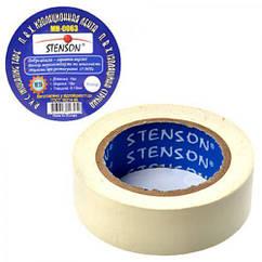 Изолента ПВХ 25м Stenson белая 10шт/уп