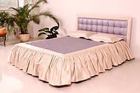 """Кровать """"Нифертити"""" двуспальная с мягким изголовьем и подъемным механизмом + матрас Epsilon"""