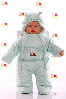 Демисезонный комбинезон - человечек на молнии для новорожденных   , фото 1