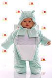 Демисезонный комбинезон - человечек на молнии для новорожденных, фото 2