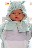 Демисезонный комбинезон - человечек на молнии для новорожденных, фото 4