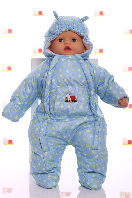 Демисезонный комбинезон - человечек для новорожденных Пуговка