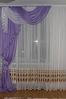 Ламбрекен со шторой универсальный размер Джулия