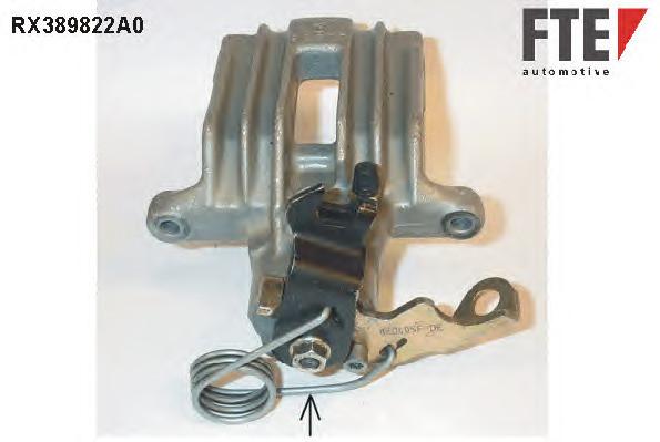 Суппорт тормоз. Audi A4/A6 (95-05) VW B-5 (97-05) зад. левый со скобой @38 Maxgear 82-0005