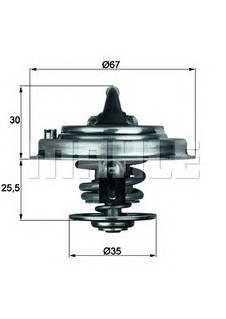 Термостат Audi 2.6/2.8 E VW LT/T-4 2.4 D/2.5 TDi 87C з прокл