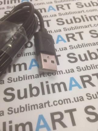 Usb кабель стандарт 100 см для Samsung, Lenovo, HTC, и т. д. (черный), фото 2