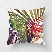 Подушка декоративная Пальмовые листья 45 х 45 см Berni