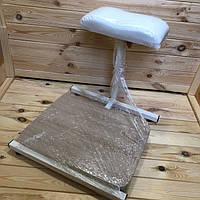 Подставка для педикюра с полочкой для ванночки (подушка в ассортименте)