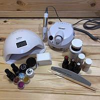Набор для маникюра Kodi Professional c лампой Sun 5, фрезером ZS-601 и декором.