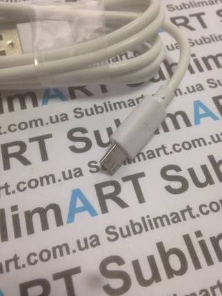 Usb кабель стандарт 100 см для Samsung, Lenovo, HTC, и т. д. (белый), фото 2