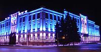 Светодиодные прожекторы - самый экономный вариант освещения территории.
