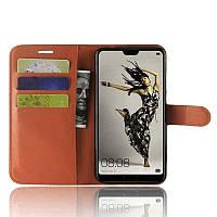 Чехол-книжка Litchie Wallet для Huawei P20 Коричневый, фото 1