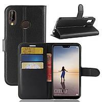 Чехол-книжка Litchie Wallet для Huawei P20 Lite Черный