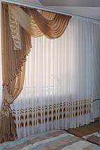 Ламбрекен шифоновый Джулия со шторой 1,50м, фото 3