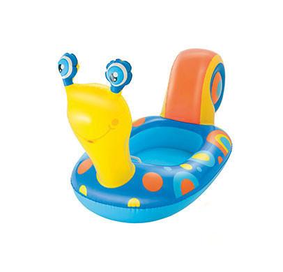 """Плотик детский надувной """"Улитка"""" BestWay (34102), 163 х 66 см, голубой"""
