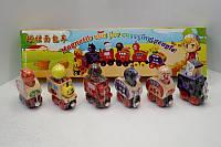 Детская Деревянная игрушка Поезд 7 Toys MD0960 на магнитах вагон 6шт в коробке 35*9*4,5см