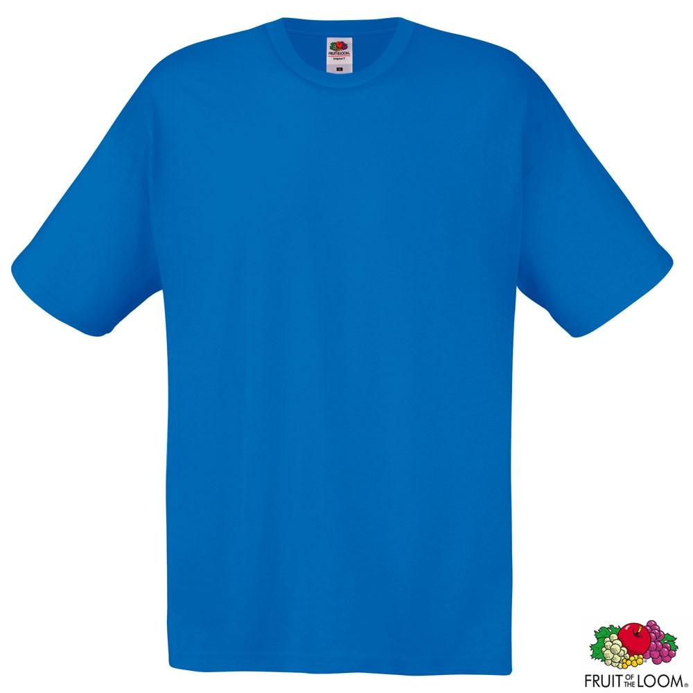 Футболка мужская Fruit of the Loom Original T, размер S, синяя, от 10 шт