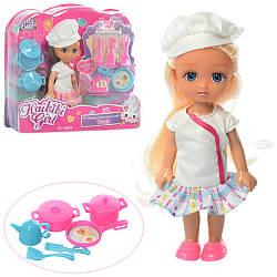 Кукла BLD230 (48шт) повар, 15см, посуда, 2вида, в слюде, 22-20-5,5см