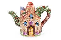 Чайник керамический рельефный 800мл в форме домика BonaDi 590-172