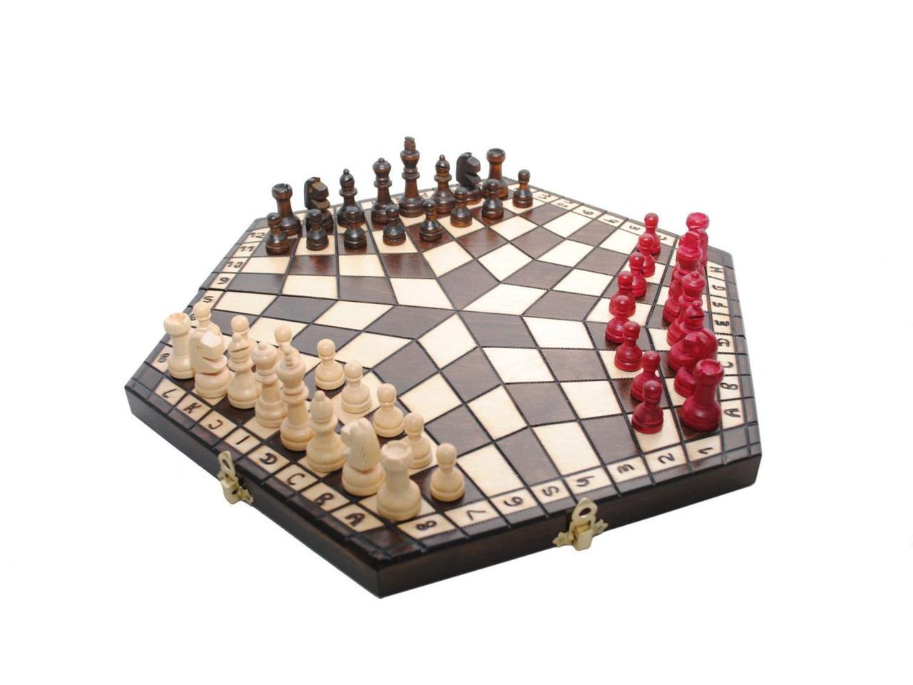 """Шахматы Madon """"На троих"""" Малые (коричневые, светлые, красные) (3164)"""