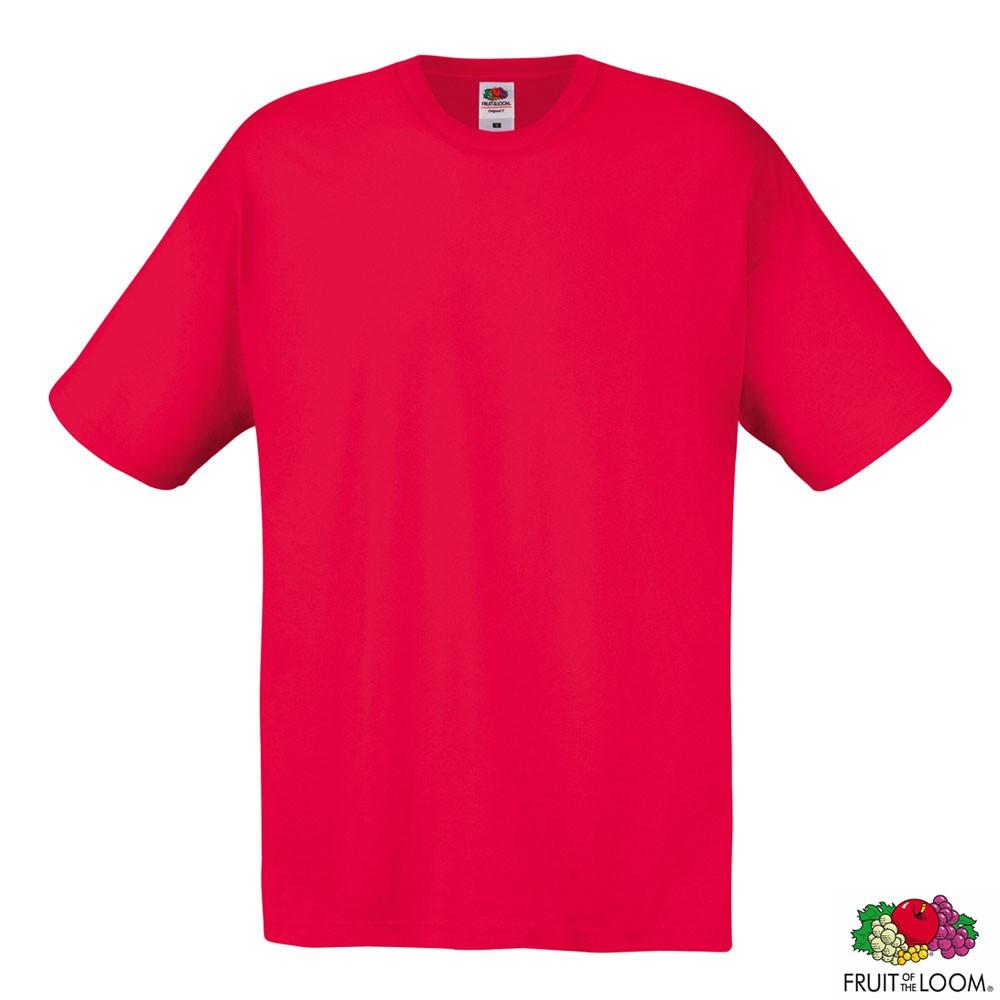 Футболка мужская Original T XL (Fruit of the Loom) (Красный)
