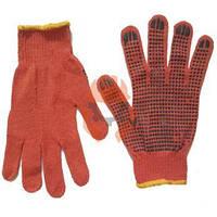 Перчатки рабочие ХБ оранжевые
