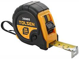 Рулетка TOLSEN 8м x 25мм пластик гума (35005)